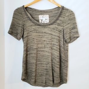 Anthropologie Pure + Good Olive Green Top